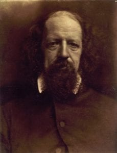 Alfred Tennyson (1809-1892), Poet Laureate of England, in an 1867 portrait by Julia Margaret Cameron