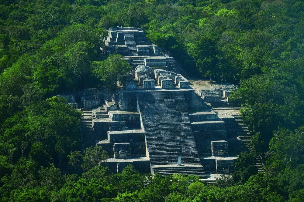 The Mayan city of Calakmul Campeche Mexico.