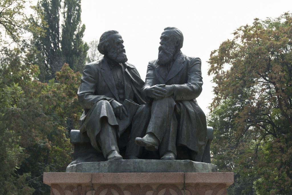 Marx and Engels statue