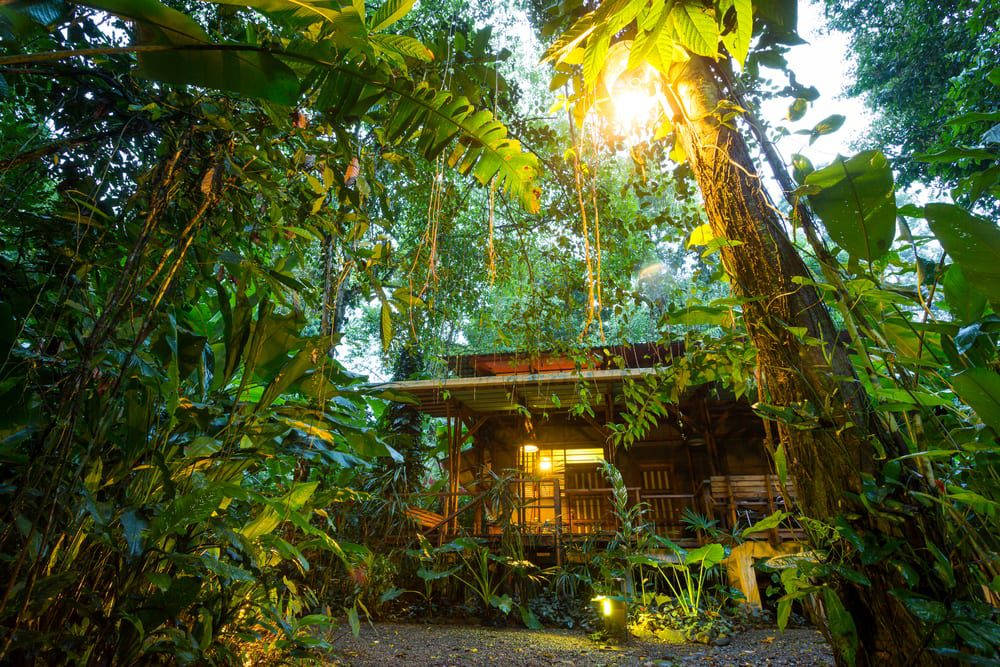 Ecotourism in Costa Rica - an eco lodge in the rainforest at Puerto Viejo de Talamanca