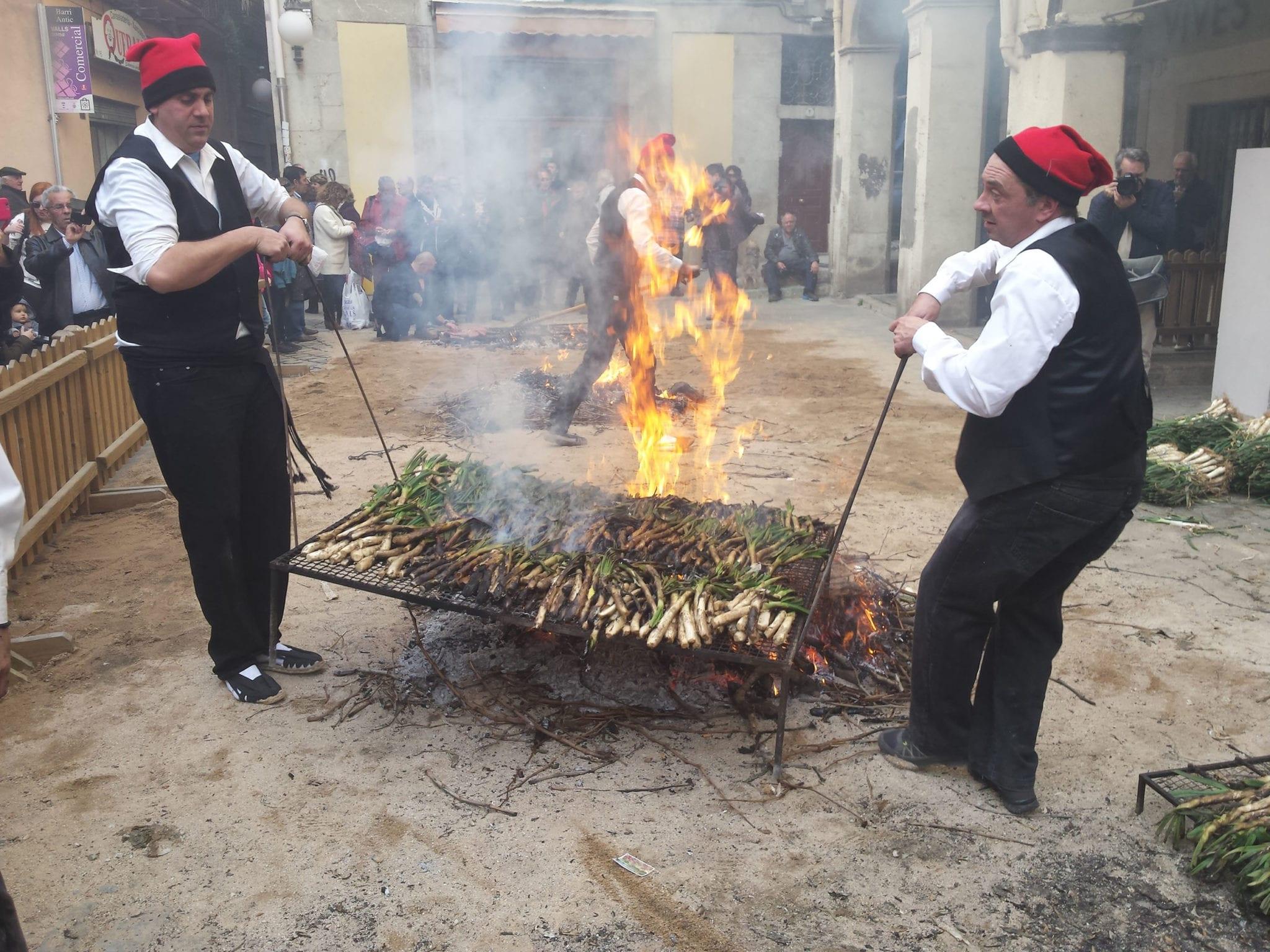 calçot grilling demonstrations