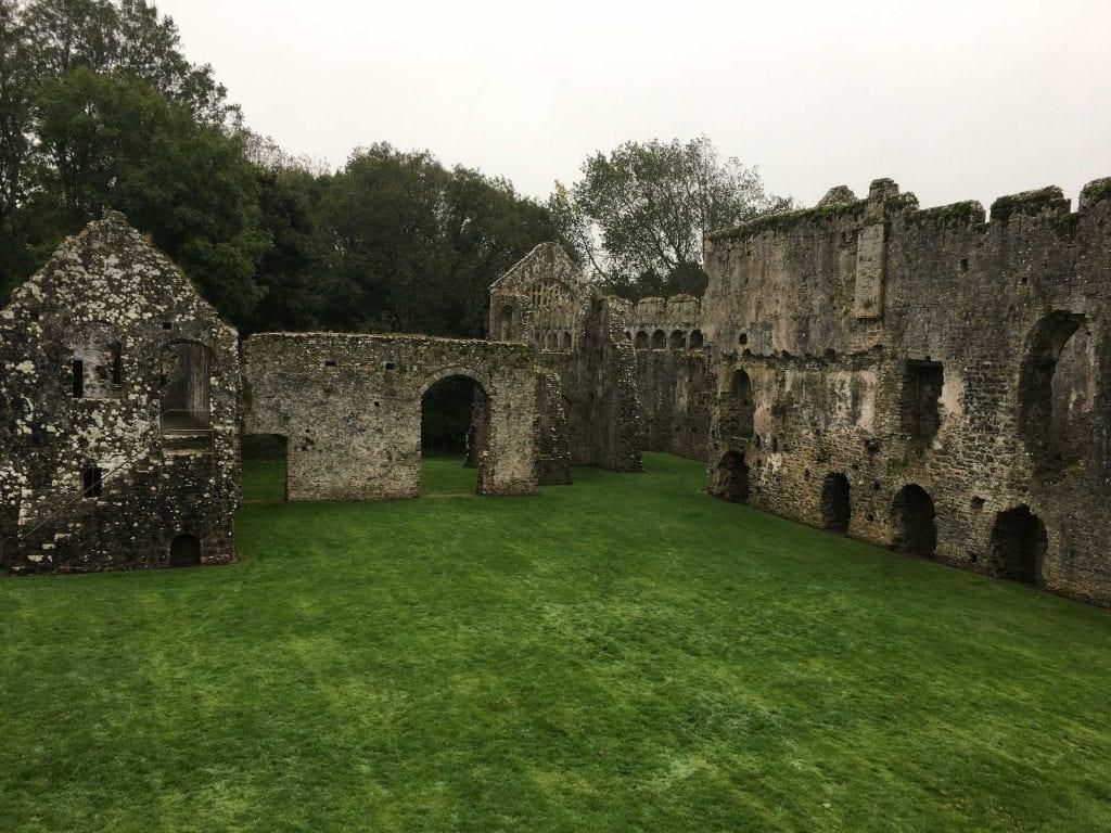 Bishops Palace Lamphey Pembrokeshire Coast path