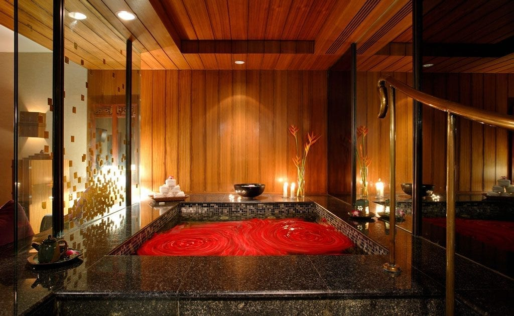 A treatment room at the spa at The Athenee Bangkok