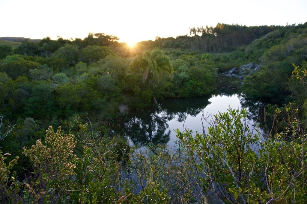 The Arroyo de Rocha offers a welcome bath in a stunning setting