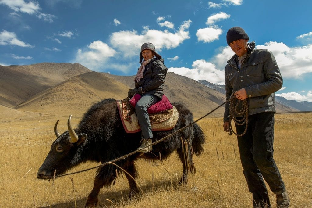 Yak-riding in Alichur Valley on the Pamir Highway
