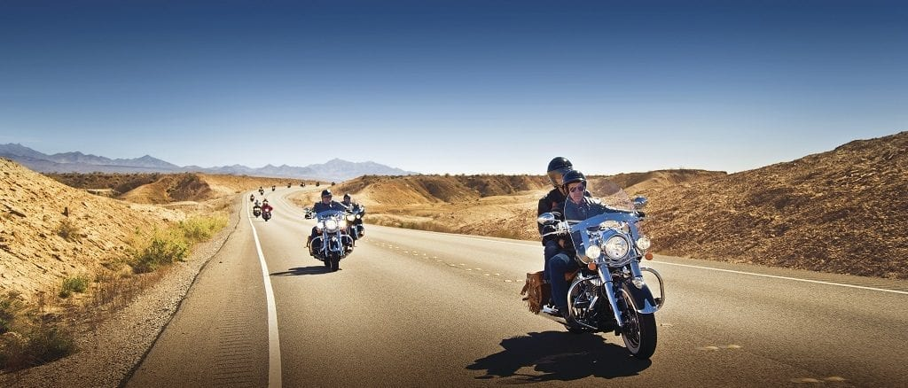 Route 66 on Harley Davidson