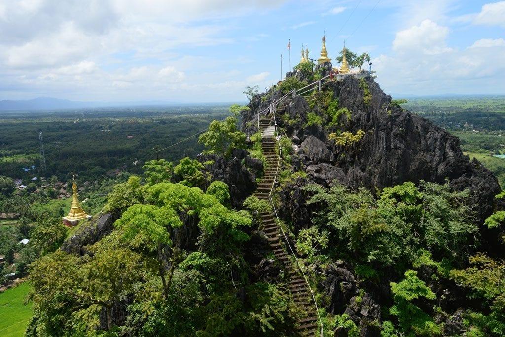 Kysauk Talon pagoda near Mawlamyine, Mon State