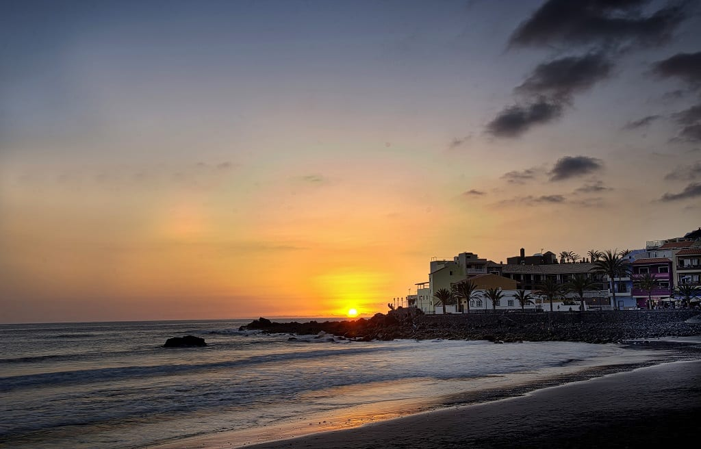 Sunset at one of La Gomera's beaches
