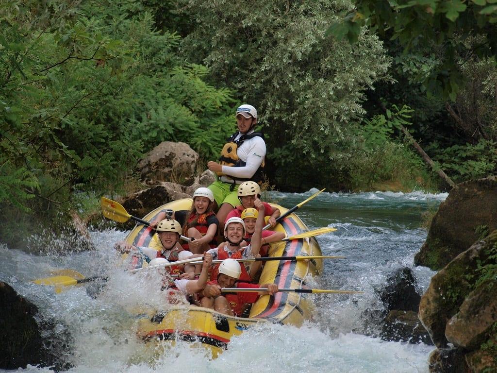 White-water rafting in Croatia