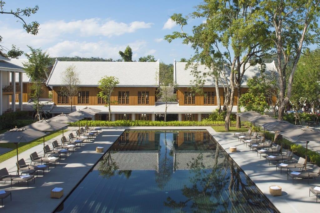 The pool at the AVANI Luang Prabang
