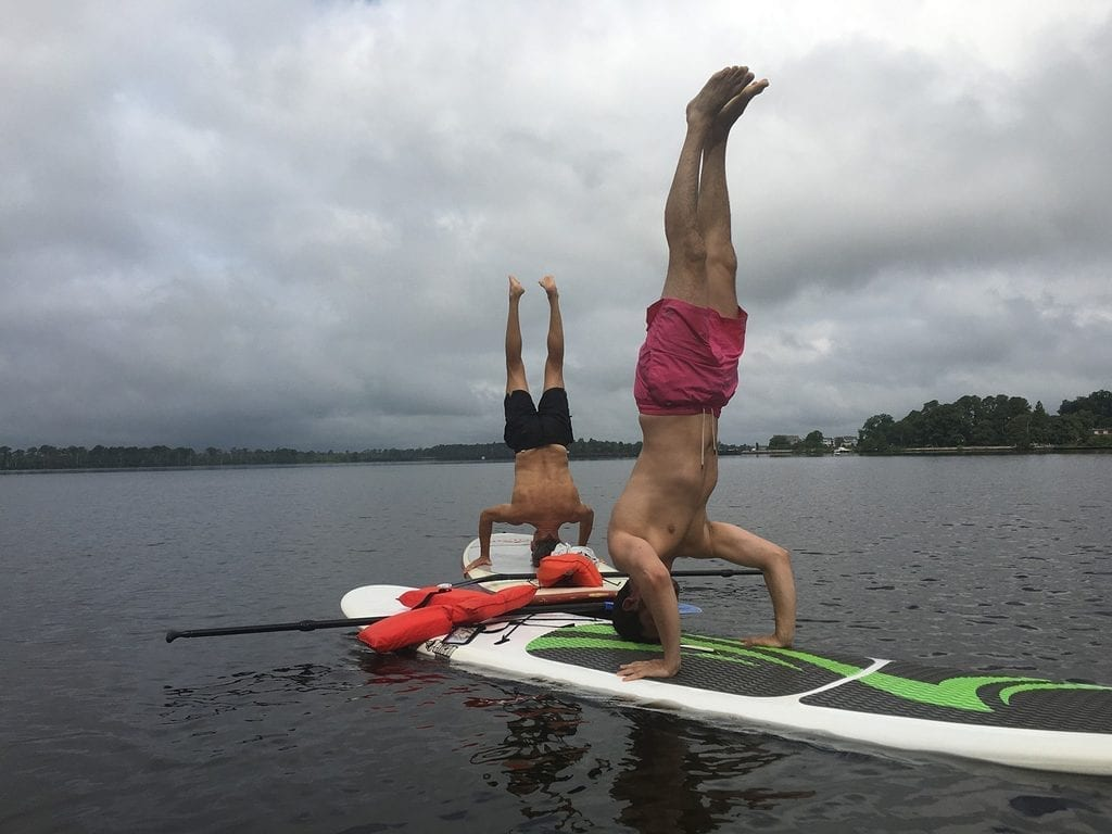 Perhaps not for your first lesson - but you can even yoga while paddle boarding