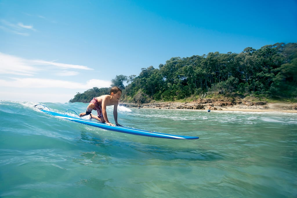 You're never to young or old to learn to surf