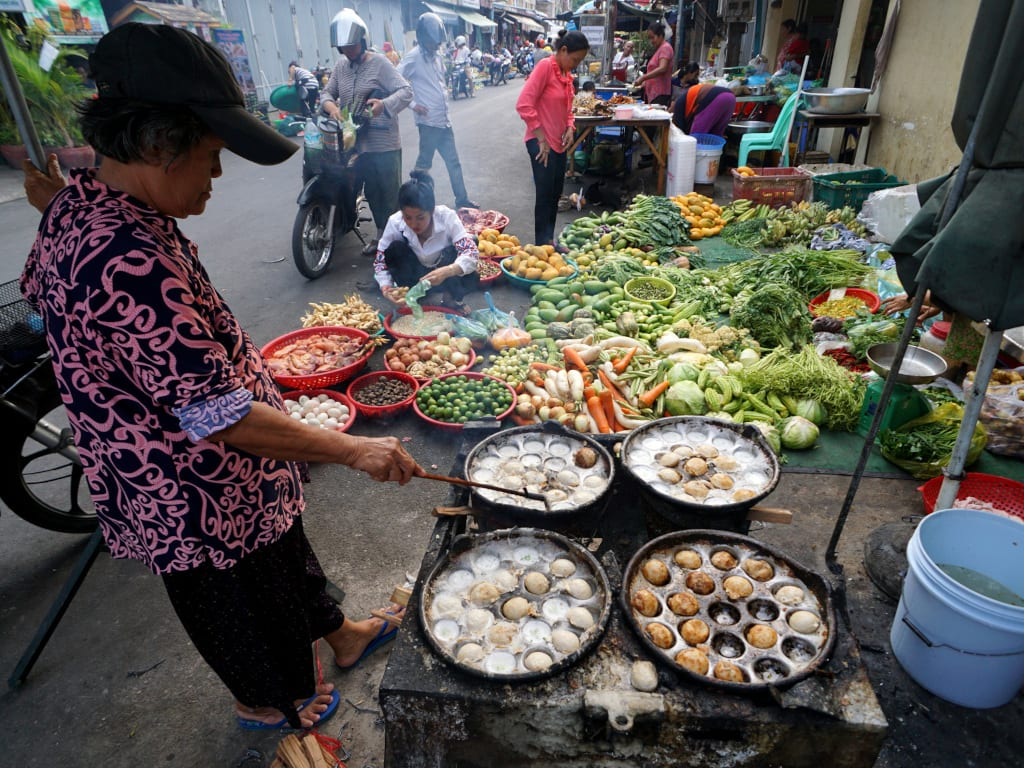 Cambodia food - up close and personal