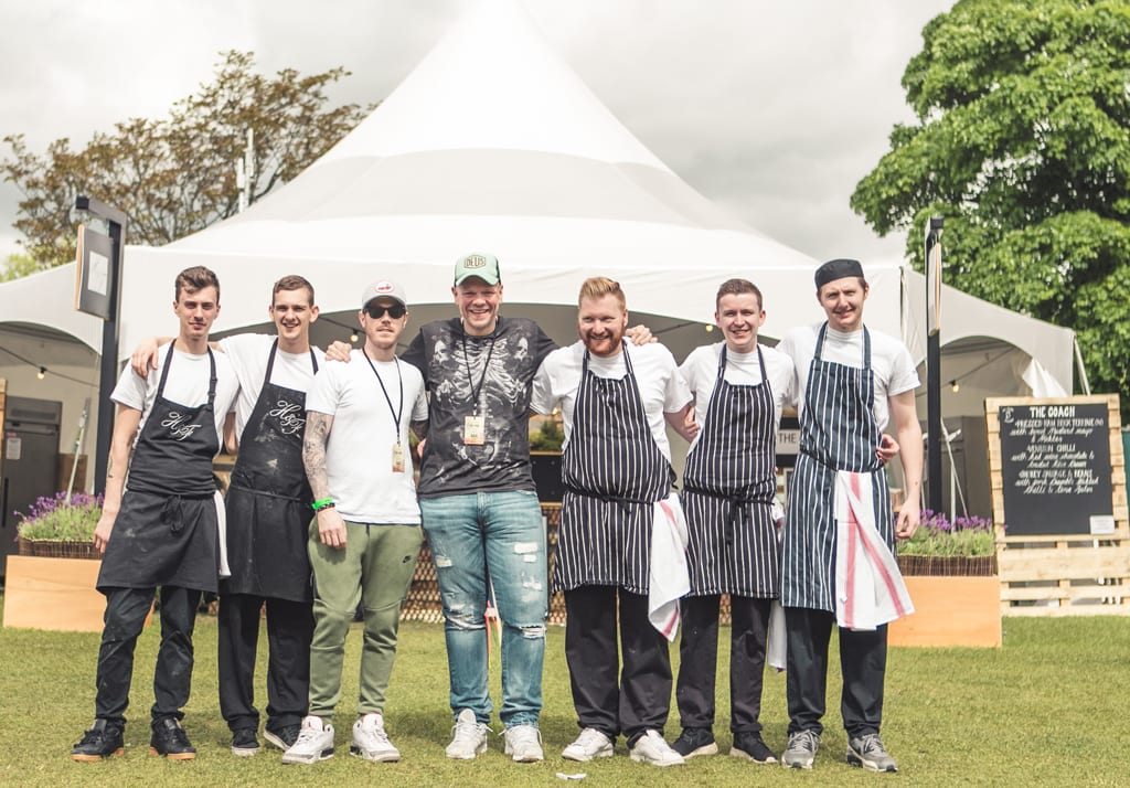 Tom Kerridge and his team at the Pub in the Park