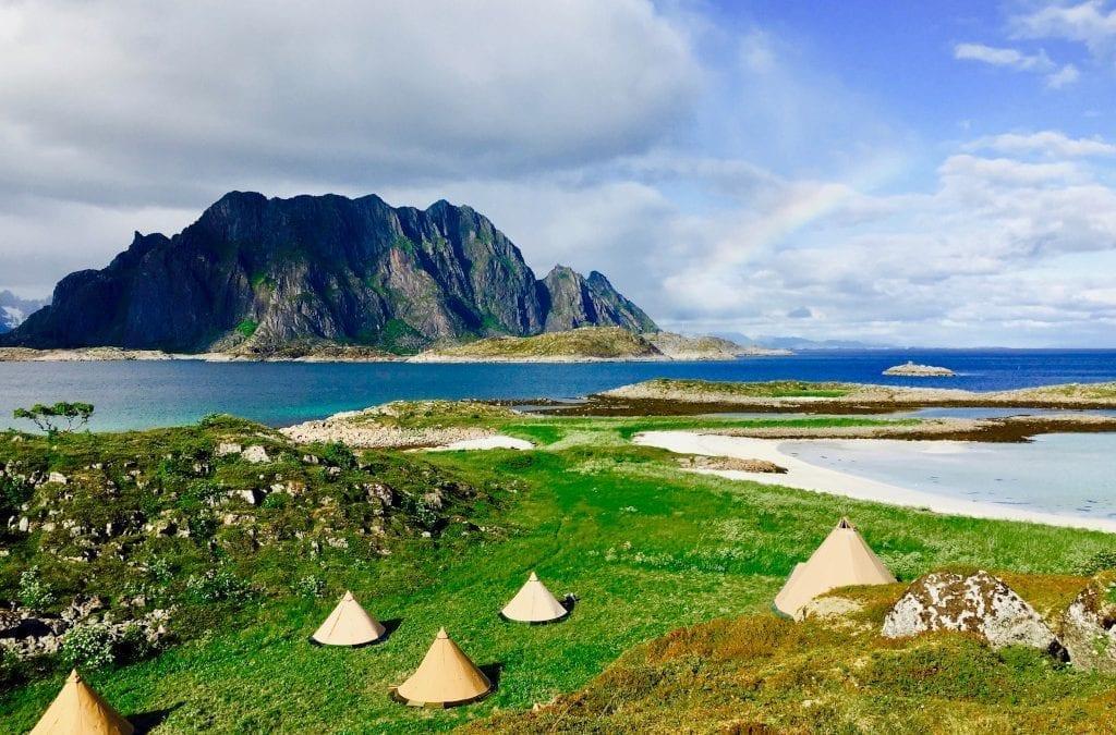 Glamping in Norway's Lofoten Islands