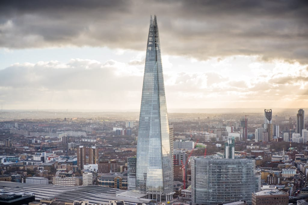 The Shard, a short walk from Borough Market
