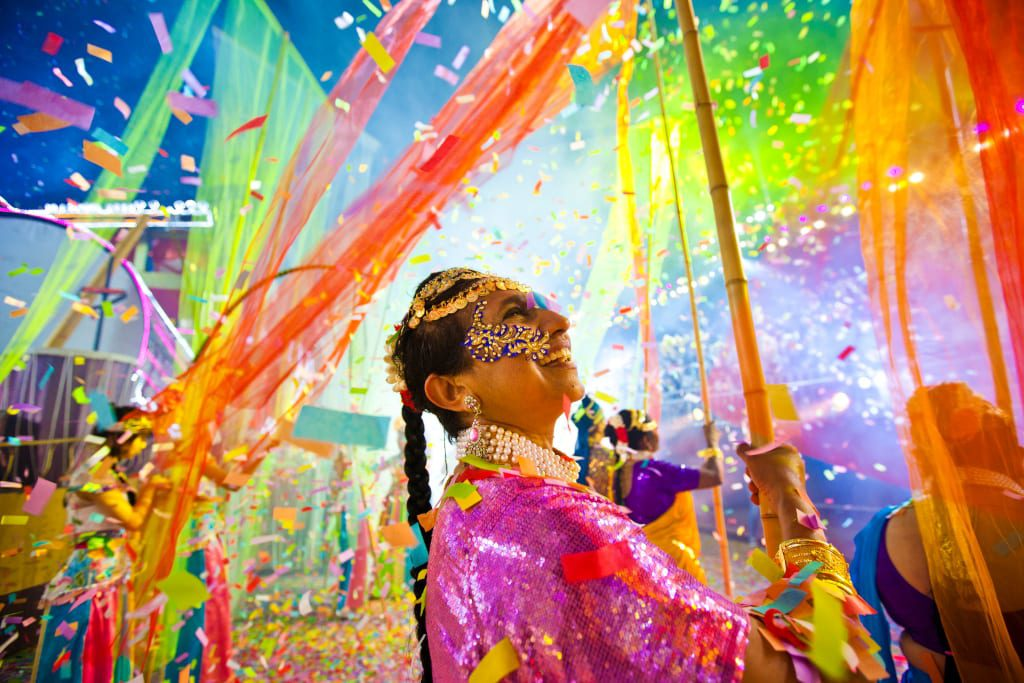 Singapore Bicentennial Chingay Parade festivals in january