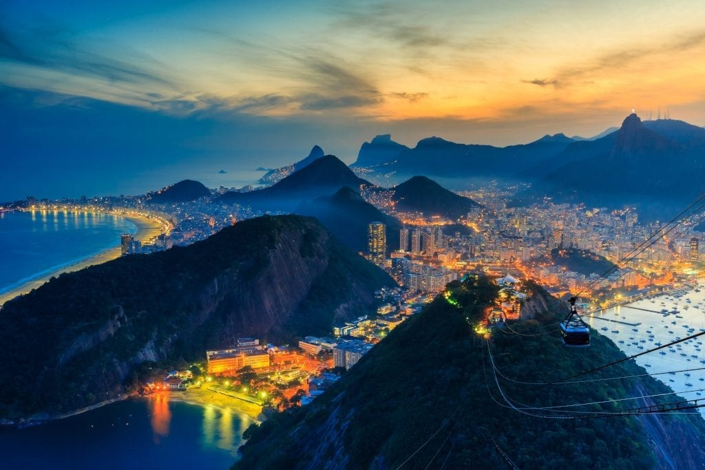 View of Rio at night