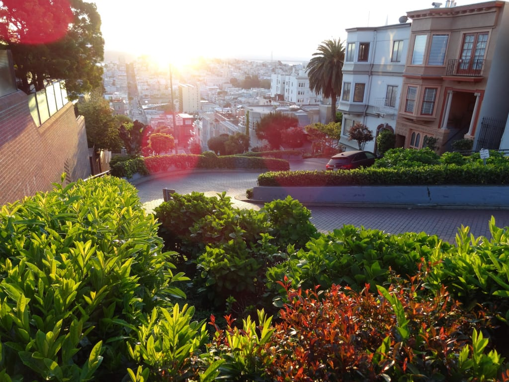 Lombard Street on the streets of San Francisco