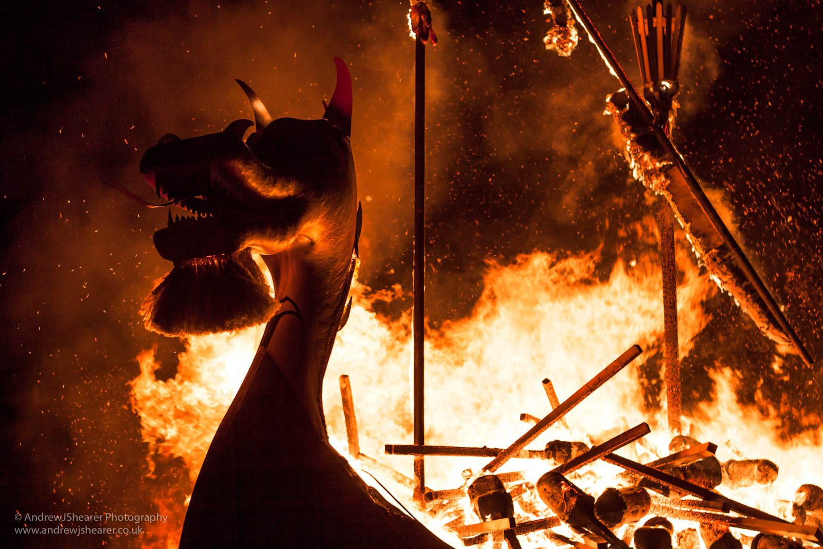 Up Helly Aa concludes with the burning of the 30-foot galley