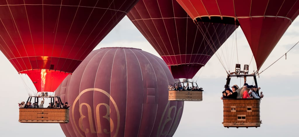 Hot-Air Balloons Take to the Skies over Loikaw