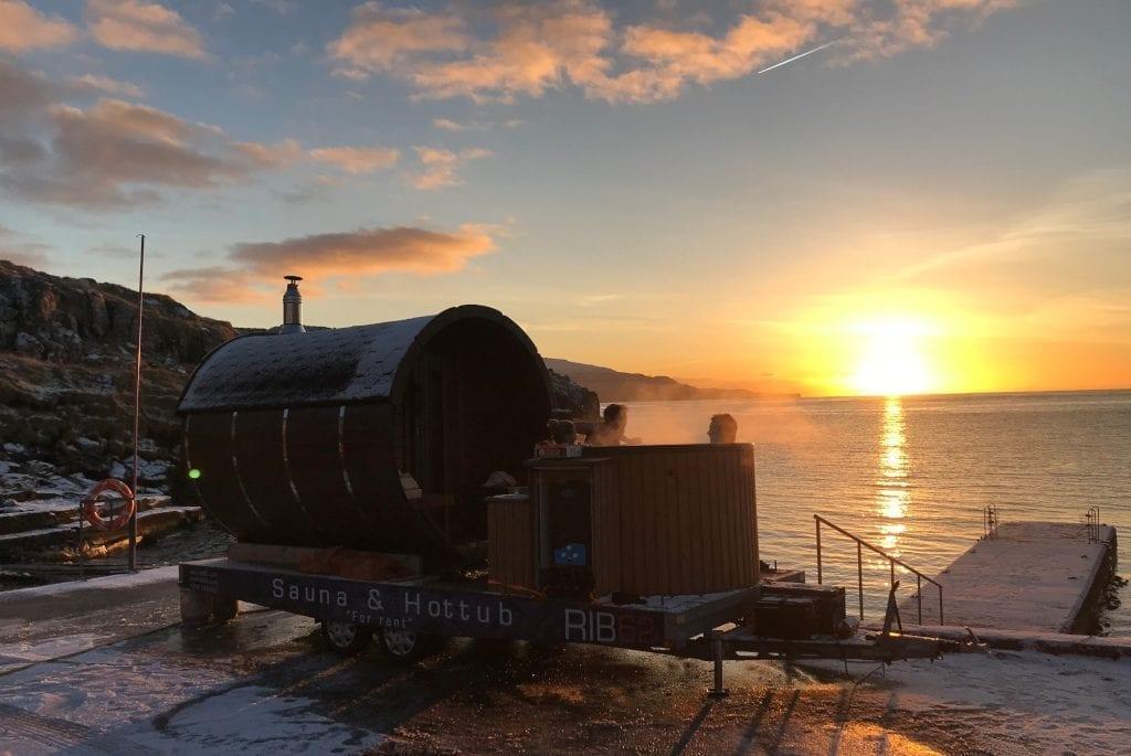 Faroe Islands hot tub sauna 3