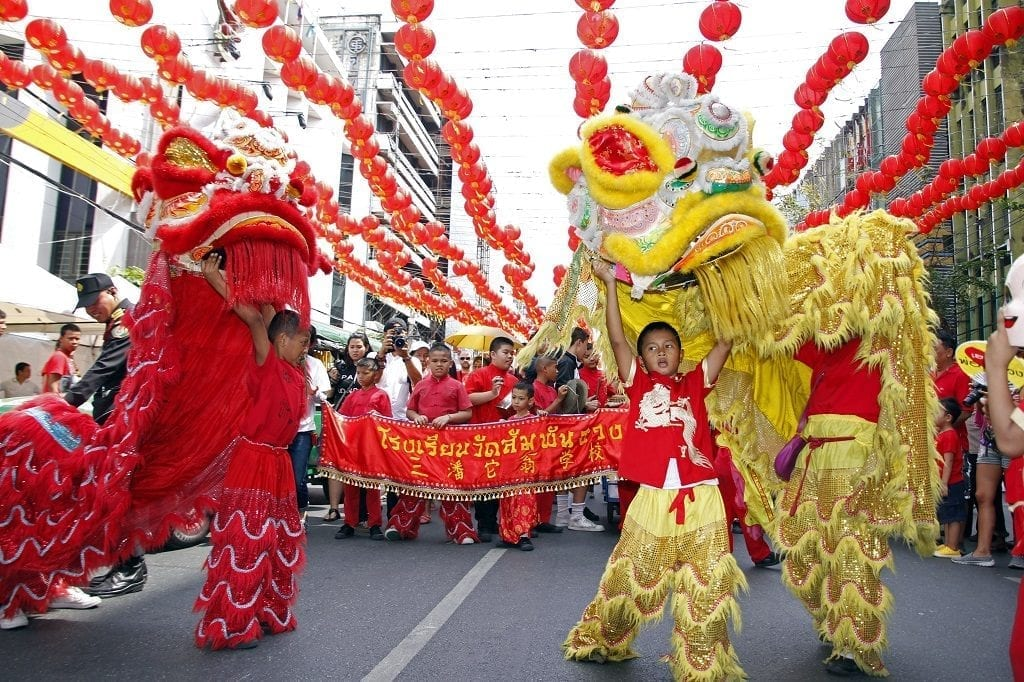 Chinese lion dances, Chinese New Year
