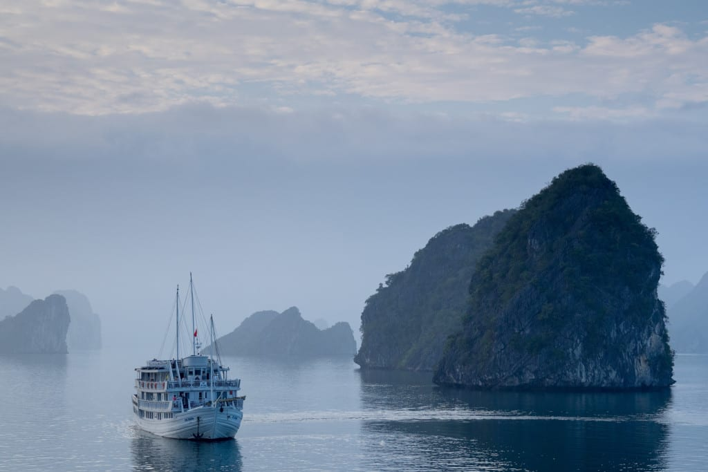 Halong Bay cruise through the mist, c. Andre Ouellet