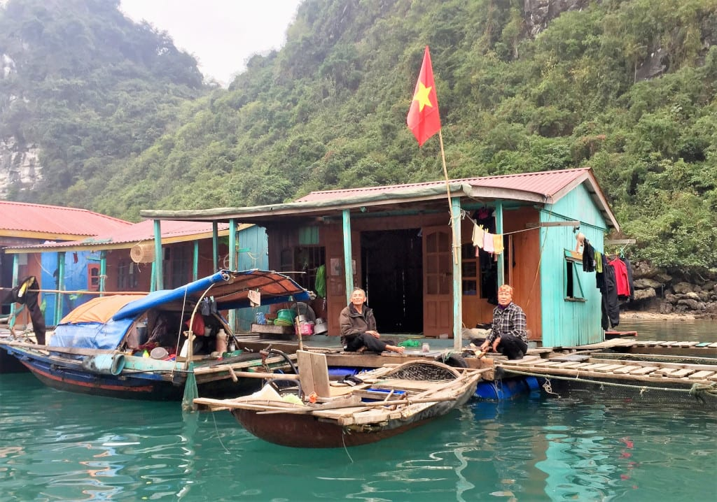 halong bay cruise fishing village, c. Marissa Carruthers