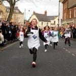 Olney Pancake Race, Buckinghamshire, UK, 2022