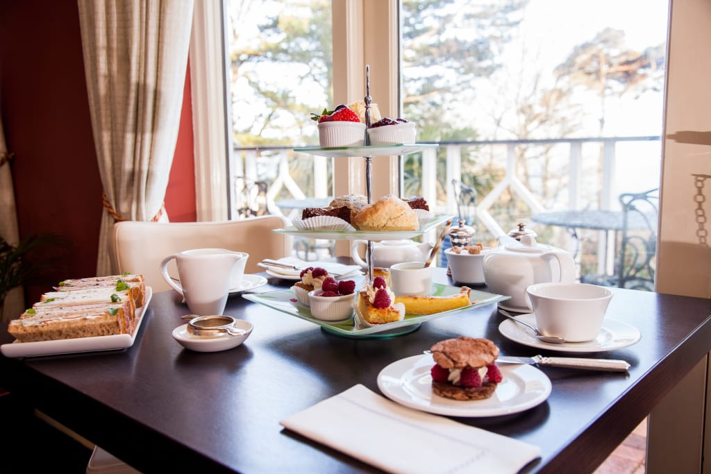 Afternoon tea at Orestone Manor