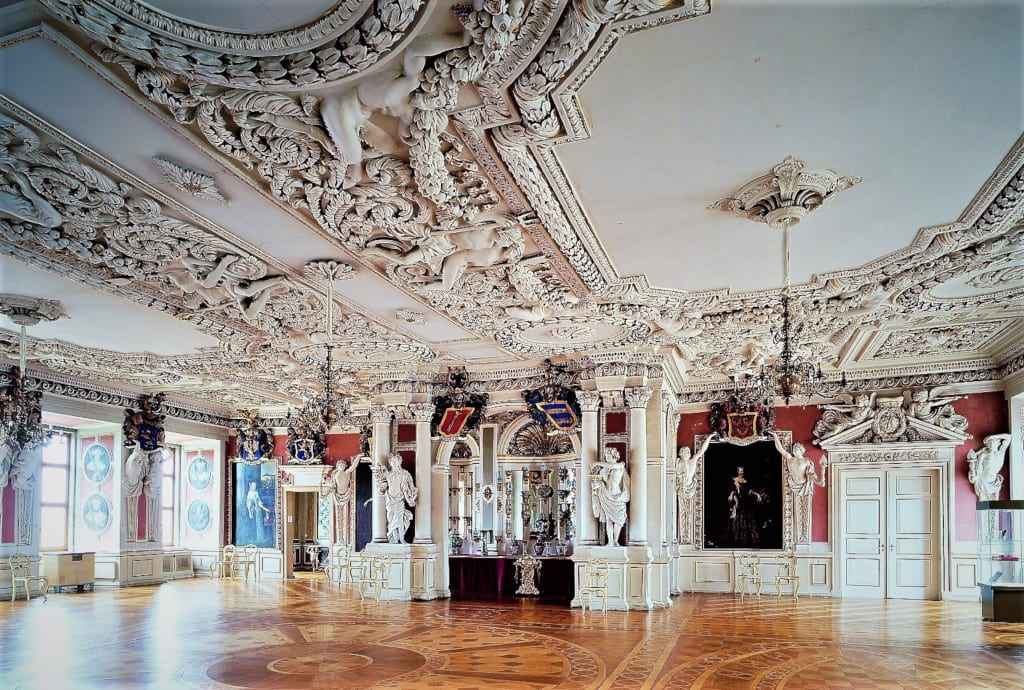 Grand hall in Friedenstein Palace, c. Stiftung Schloss Friedenstein