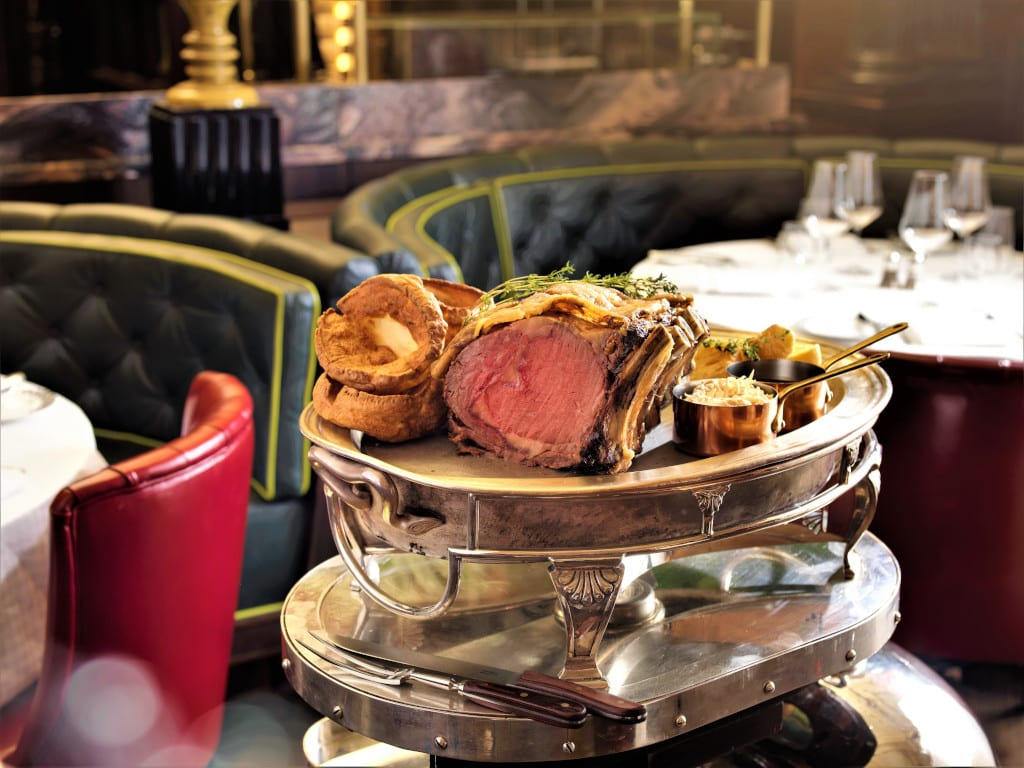Roast Beef served on a trolley at Simpson's on the Strand