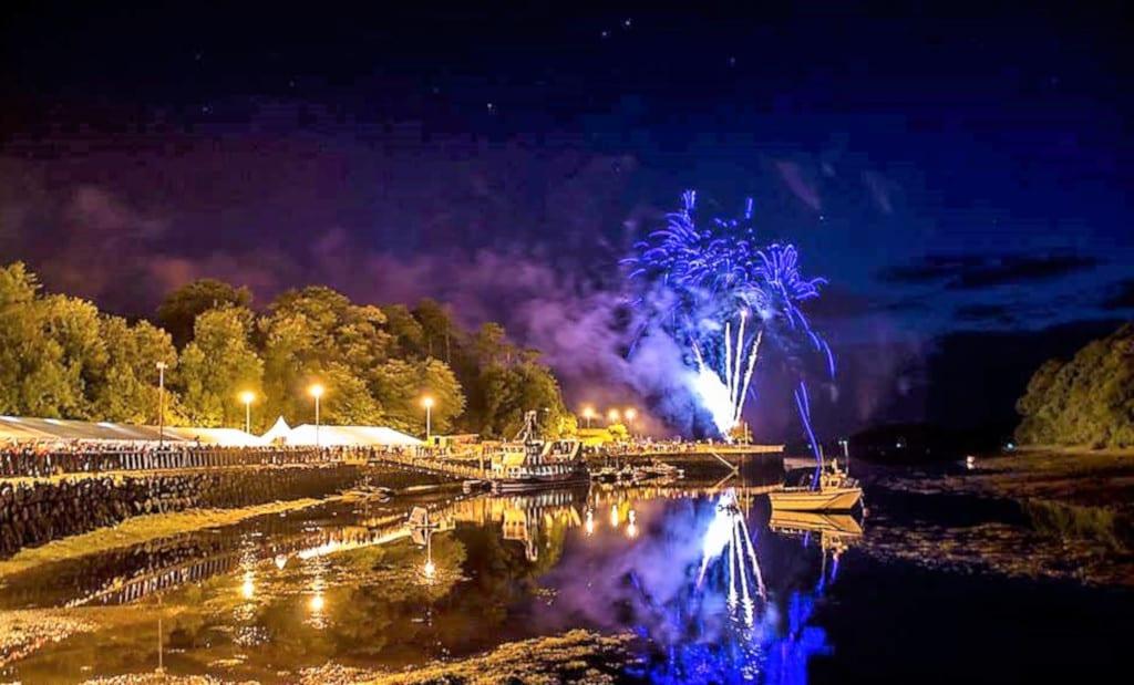 The amazing firework display