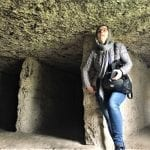 Victoria in the caves at Butuceni