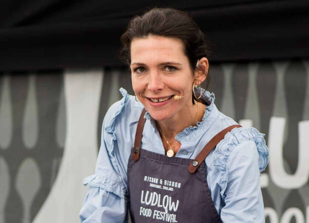 Thomasina Miers at the Ludlow Food Festival c. Ashleigh Cadet