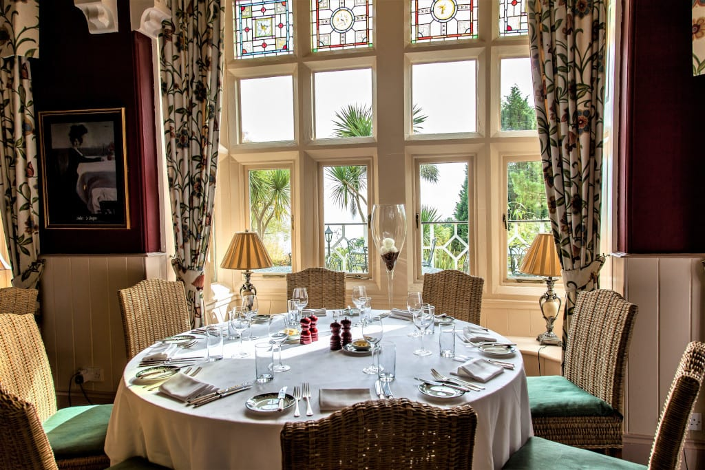 The multi-award winning restaurant at Orestone Manor