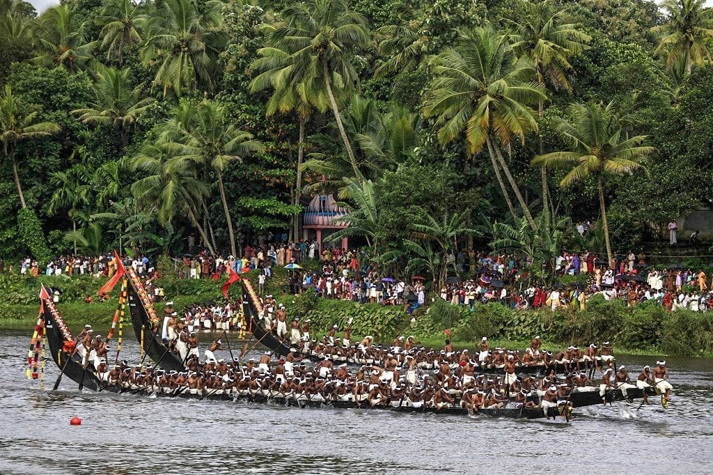 snake Boat rowing competition Kerala, India