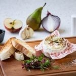 Baked Camembert with pear and ginger chutney c. Adrienne Photography