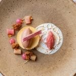 Rhubarb and Custard Panna Cotta, c. Adrienne Photography