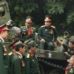 Veterans at Hanoi war museum