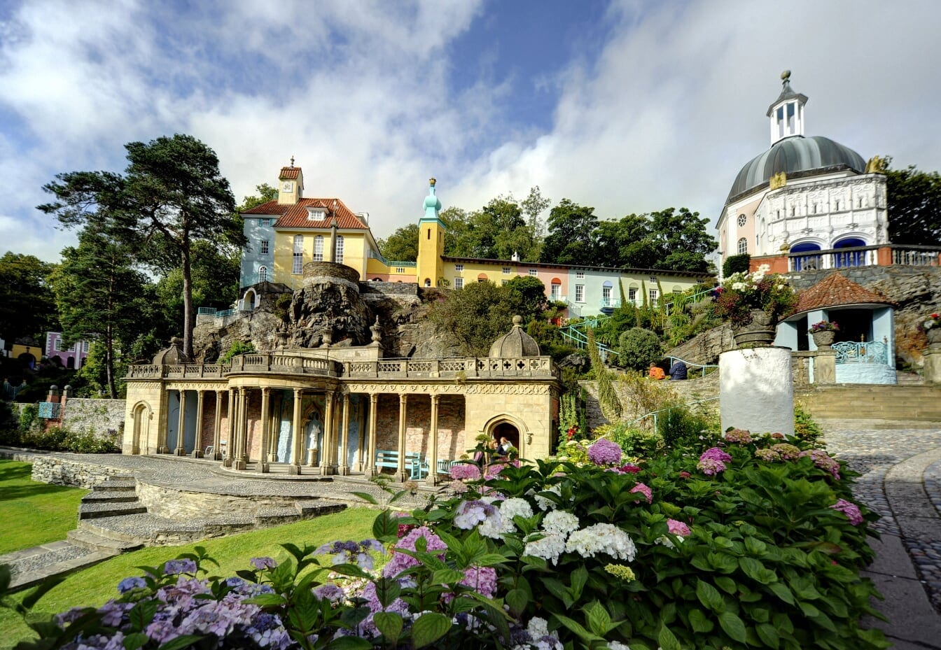 Portmeirion in North Wales where was born