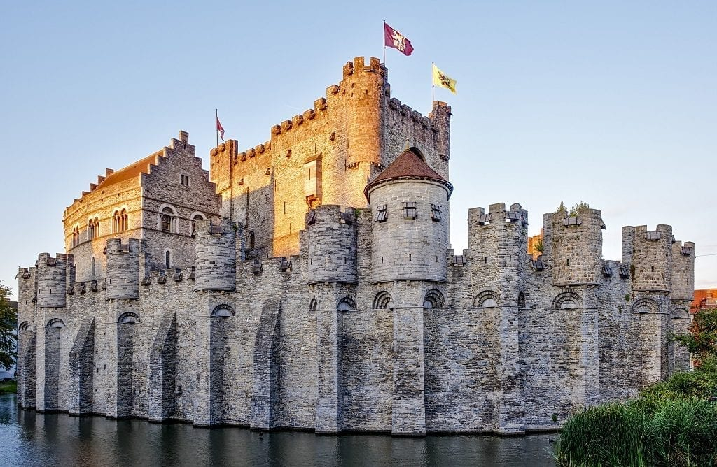 Gravensteen fortress in Ghent, Belgium