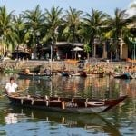 Boat on the river in Hoi An ancient town