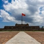 The flag tower outside Hue Imperial Citadel