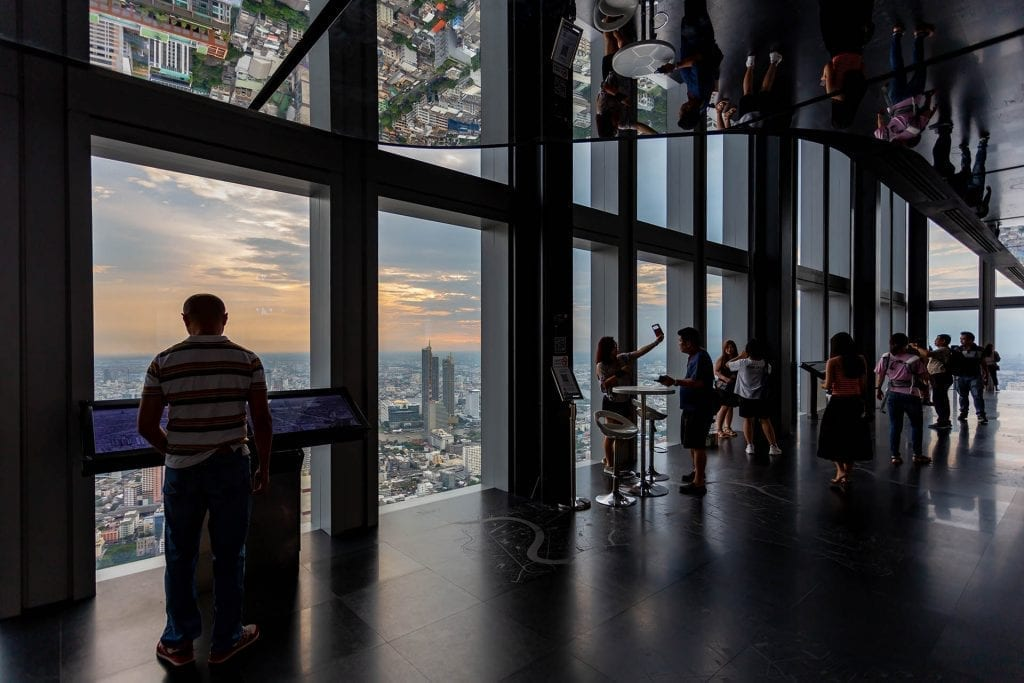 74th floor indoor observation area in the King Power MahaNakhon Tower