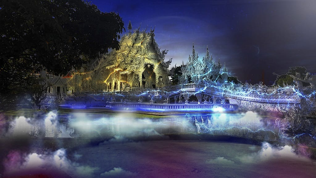 White Temple Light Fest Thailand