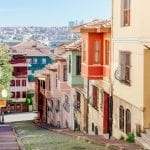 Colorful vibrant houses in Balat neighborhood, Istanbul, Turkey