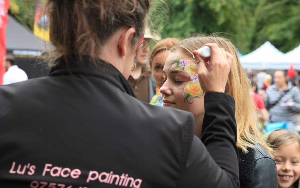 Chilli Fest face painting. Image, Adam Hollier (c) National Trust, Waddesdon Manor