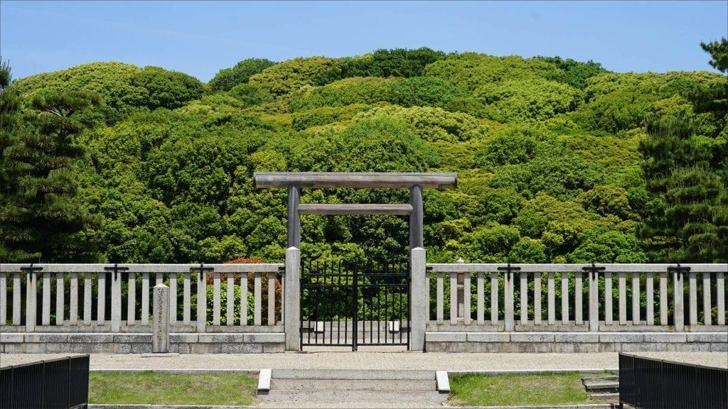 Emperor Nintoku's Mounded Tomb, Osaka, Japan